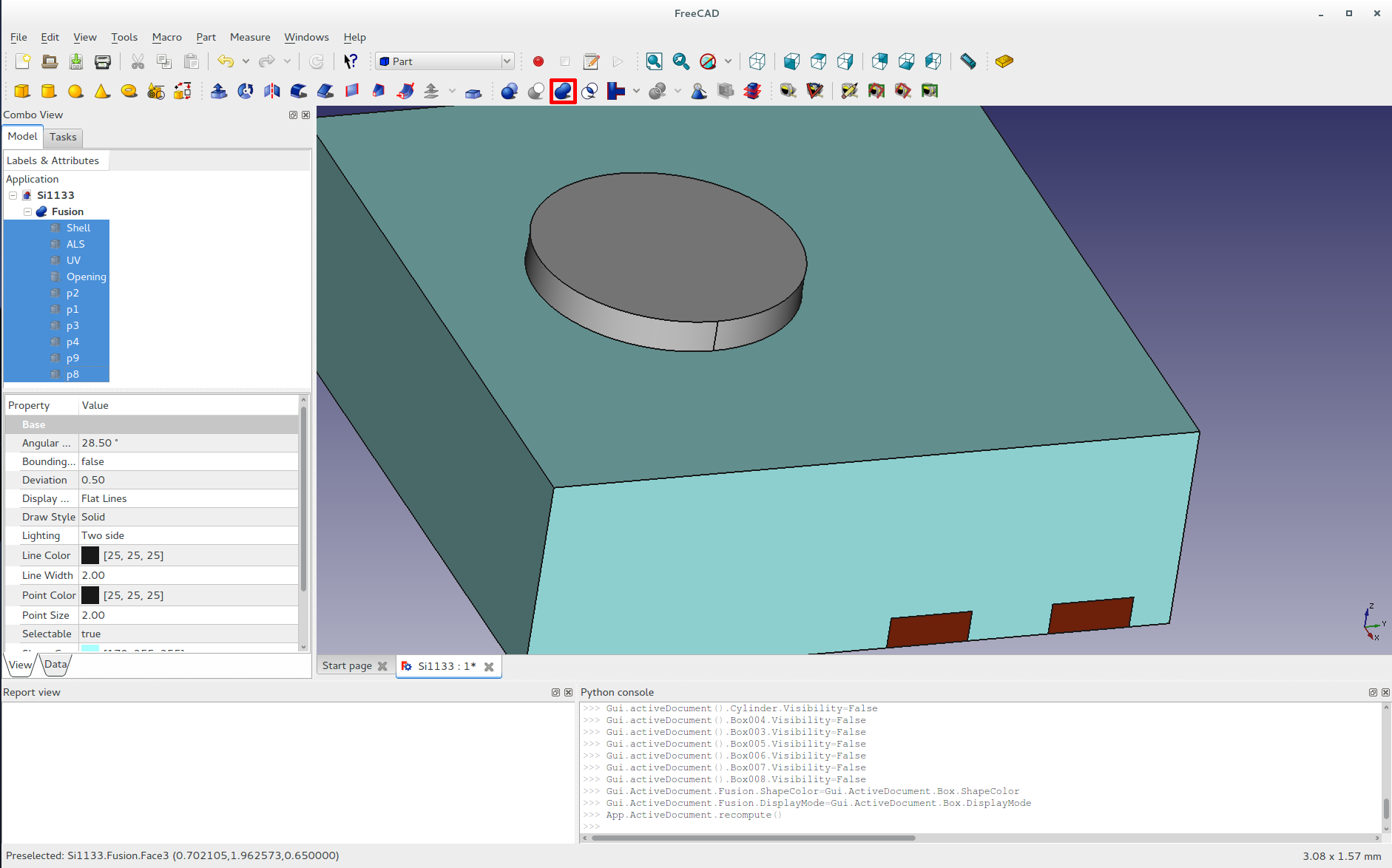 Calling maui and friends making a 3d model in freecad pair