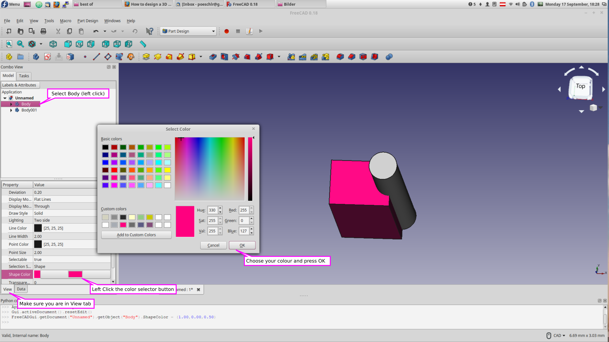 How to design a 3D shape with color - 3D Models - KiCad info