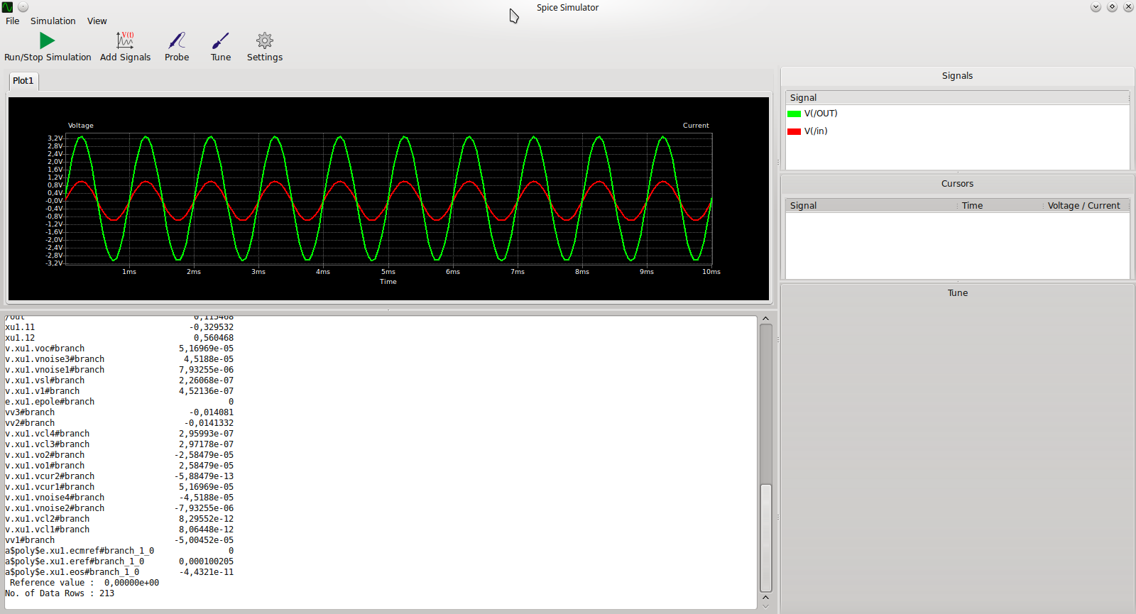 Simulating Non Inverting Operational Amplifier With Integrated Ubuntu Circuit Simulator And Output From Simulation