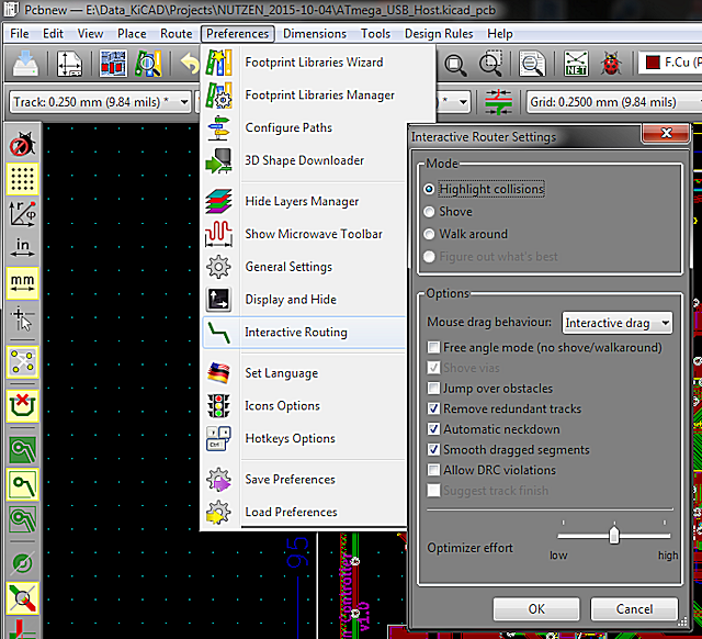 Microvia in OpenGL Canvas - Layout - KiCad info Forums